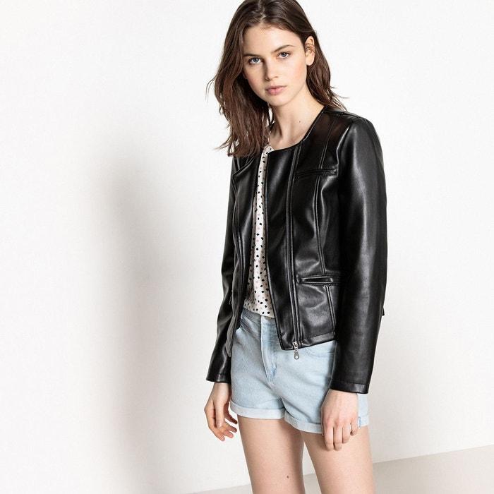 Veste droite noir Vero Moda   La Redoute 7e43c1e0e141