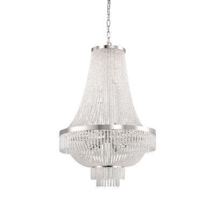 lustre augustus chrome 12x40w ideal lux 112800 boutica design la redoute. Black Bedroom Furniture Sets. Home Design Ideas