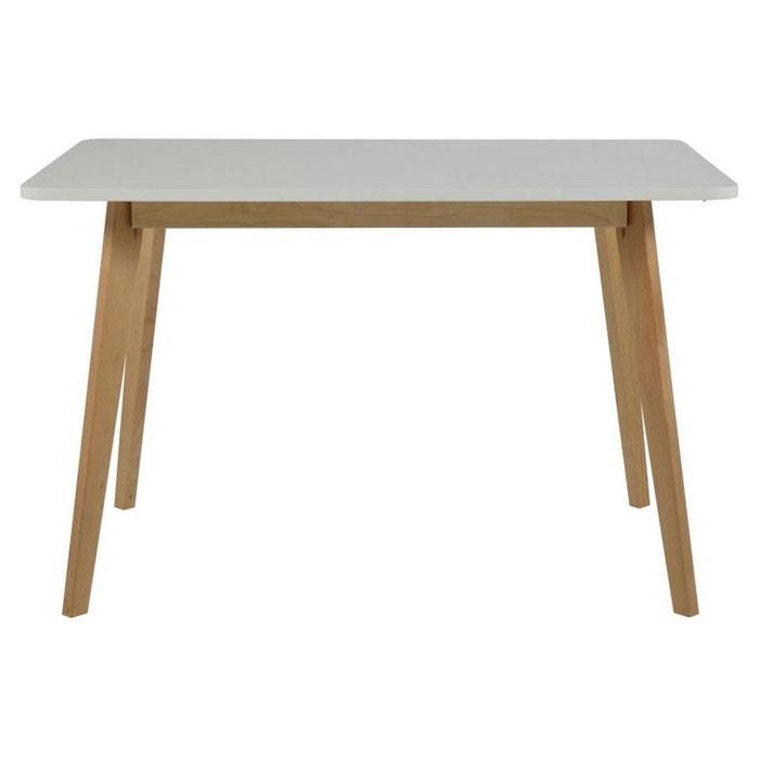 Table rectangulaire luza blanc hellin depuis 1862 la for Table a manger la redoute