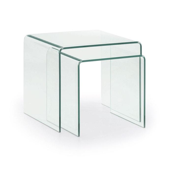 set de 2 tables gigogne burano neutro kave home la redoute. Black Bedroom Furniture Sets. Home Design Ideas