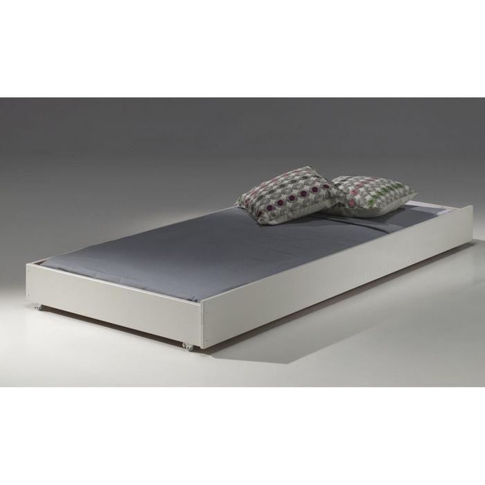 tiroir de lit 90x190 pour lit superpos blanc armance faustin blanc alfred et compagnie la. Black Bedroom Furniture Sets. Home Design Ideas