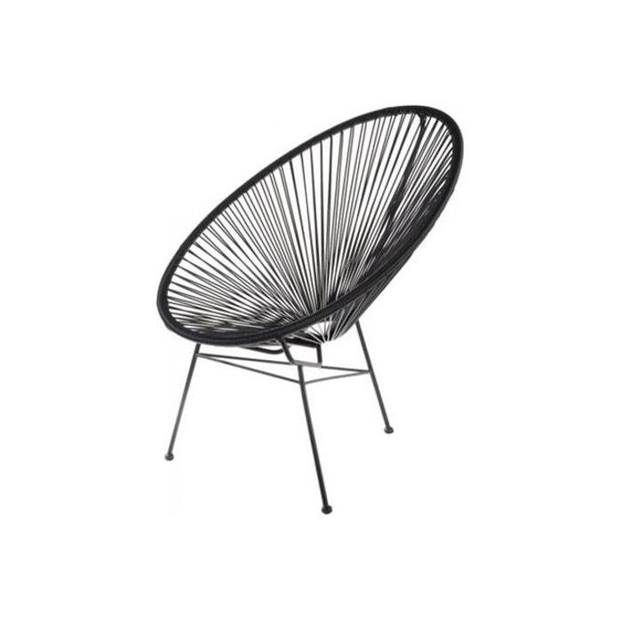 fauteuil zimaculto noir noir la chaise longue la redoute. Black Bedroom Furniture Sets. Home Design Ideas