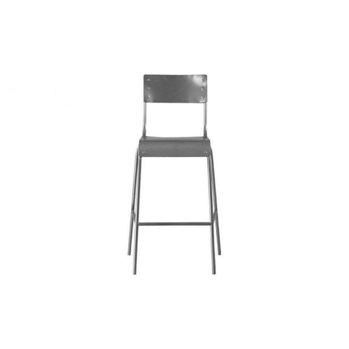 chaise haute en m tal esar gris declikdeco la redoute. Black Bedroom Furniture Sets. Home Design Ideas