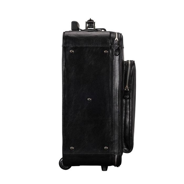 Maxwell Scott® Valise à Roulettes En Cuir Italien Noir (Piazzale) 41lfY7k