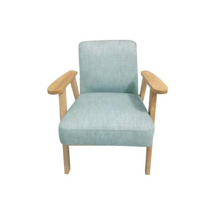 fauteuil bleu clair cosmos bleu declikdeco la redoute. Black Bedroom Furniture Sets. Home Design Ideas