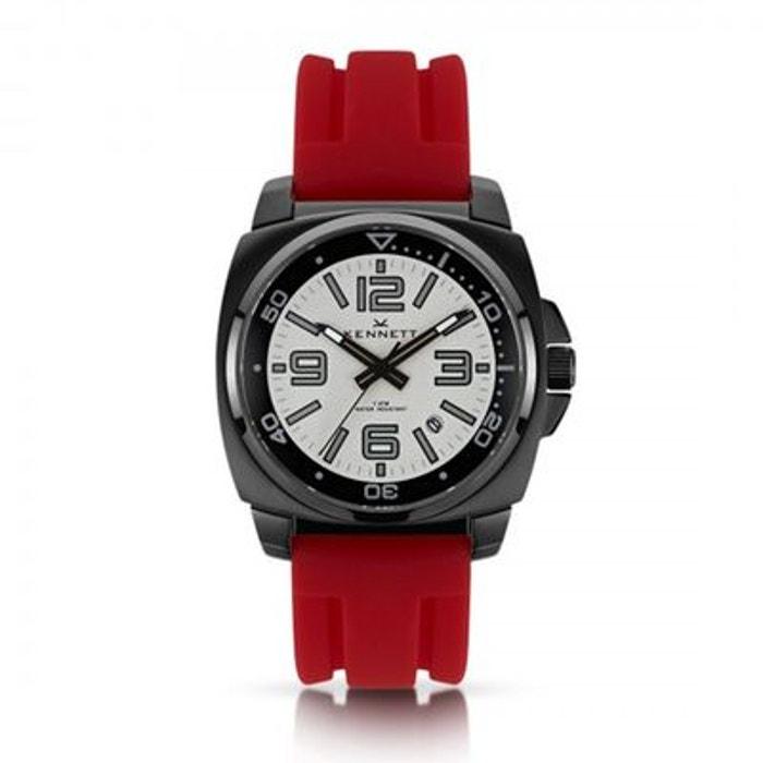 Montre kennett valour, blanc sur rouge rouge Kennett | La Redoute