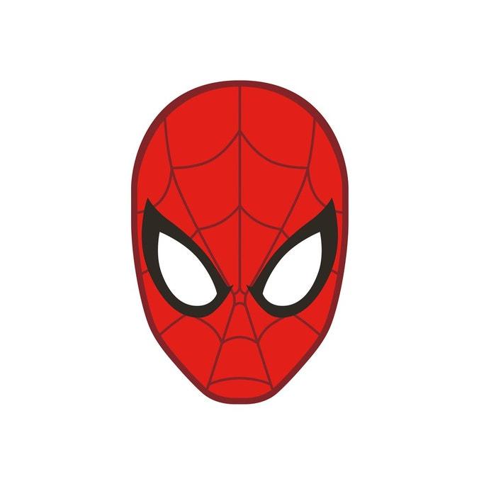 Coussin t te rouge 036x036 cm spiderman 100 polyester - Tete de spiderman a imprimer ...