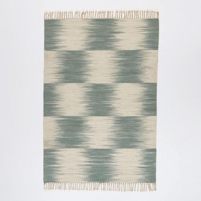 tapis style kilim tiss plat motif ikat en laine ecru. Black Bedroom Furniture Sets. Home Design Ideas