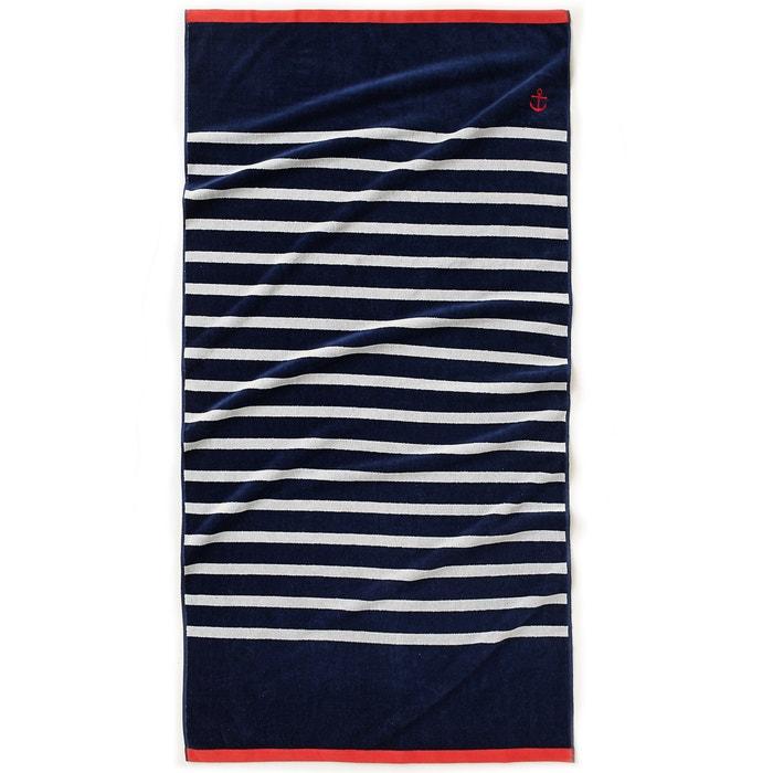 Nautical Style Pure Cotton Beach Towel  La Redoute Interieurs image 0