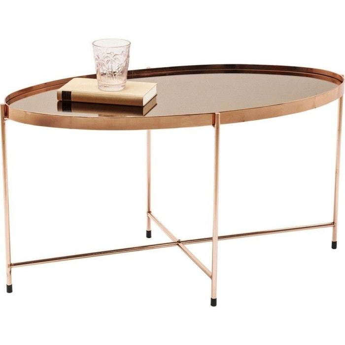 Table basse Miami ovale or rose 83x40cm Kare Design  KARE DESIGN image 0