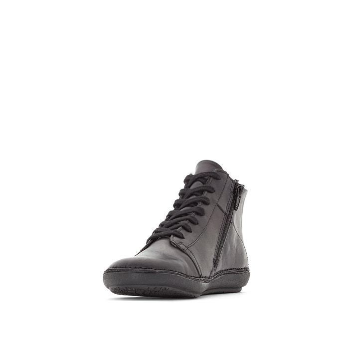 La Kickers Fowno Boots Cuir Redoute Noir wgCIIB