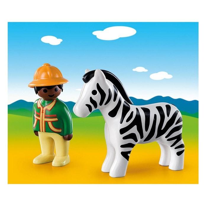 Playmobil 9257 1 2 3 soigneur avec z bre couleur unique playmobil la redoute - La redoute playmobil ...
