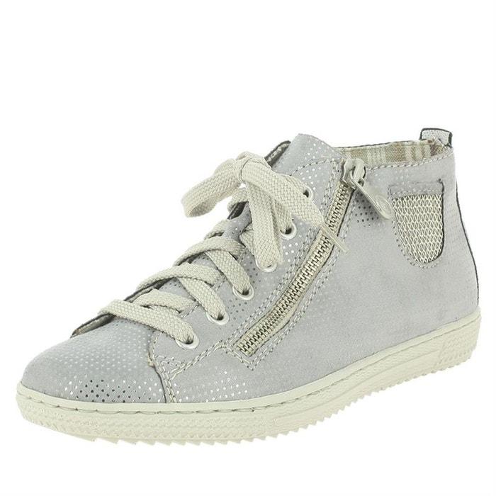 Chaussures à lacets synthétique gris Rieker Pas Cher Moins Cher Visite Libre Expédition Nouvelle Sortie D'usine De Prix Pas Cher AoGWqNf
