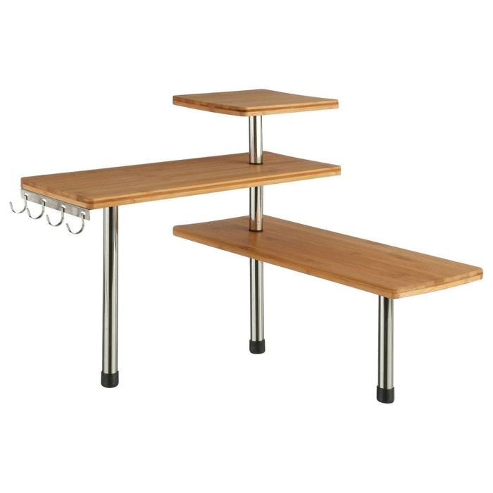 etag re d 39 angle de cuisine en bambou 43 x 39 cm beige secret de gourmet la redoute. Black Bedroom Furniture Sets. Home Design Ideas