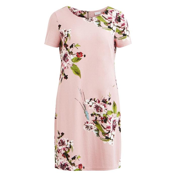 Floral Print Midi Shift Dress  VILA image 0