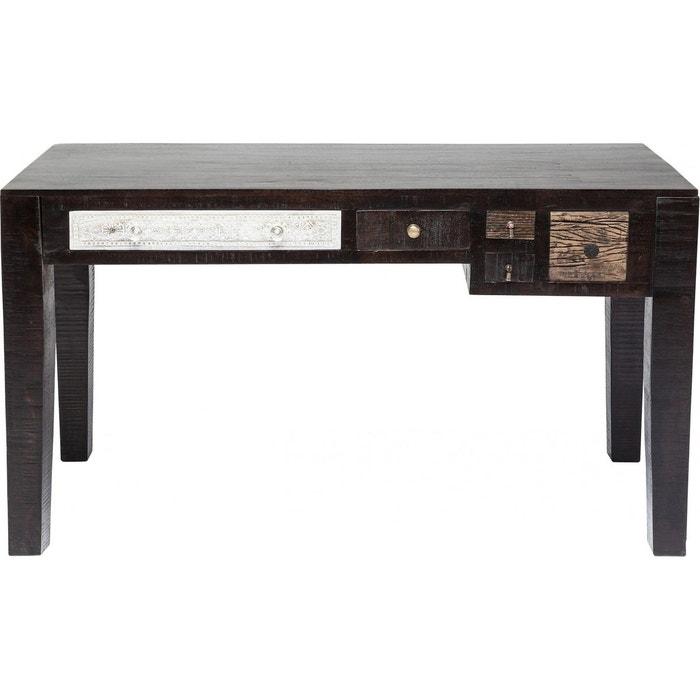Bureau finca 135x60cm kare design marron kare design la for Bureau kare design