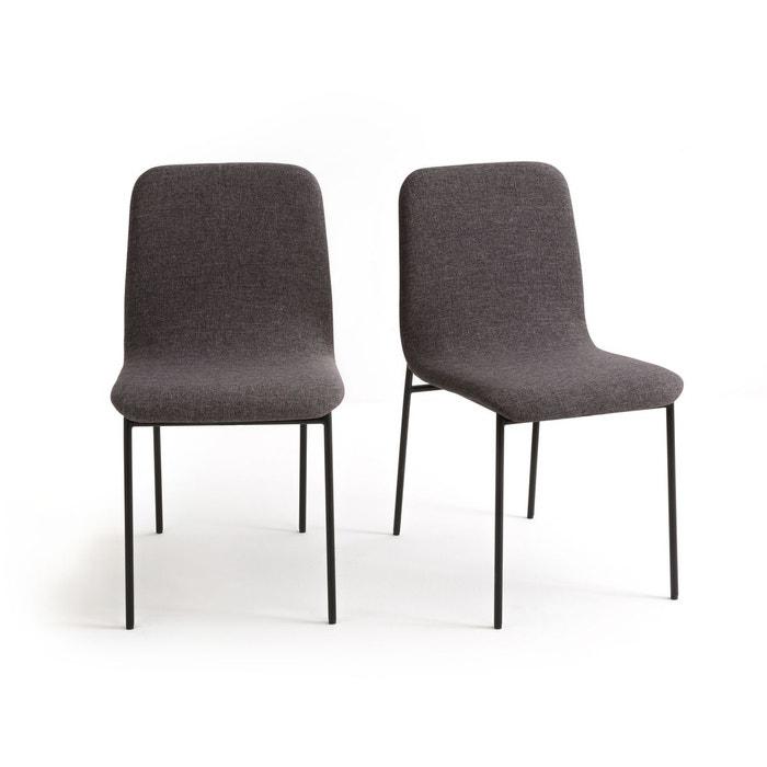 Chaises indus rev tement tissu guardi lot de 2 gris anthracite la redoute interieurs la redoute for La redoute chaises salle a manger