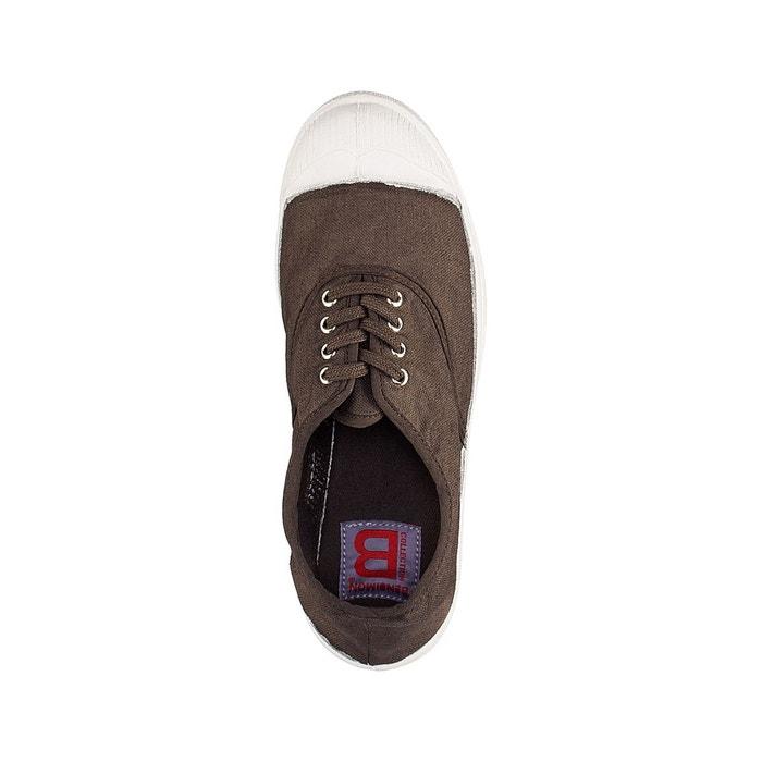 Baskets basique lacets kaki foncé Bensimon
