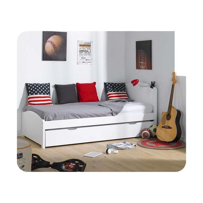 lit gigogne nature 90x200 cm ma chambre d 39 enfant la redoute. Black Bedroom Furniture Sets. Home Design Ideas