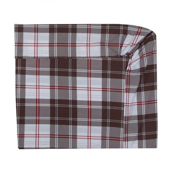 drap housse montana marron marron cotonflor la redoute. Black Bedroom Furniture Sets. Home Design Ideas