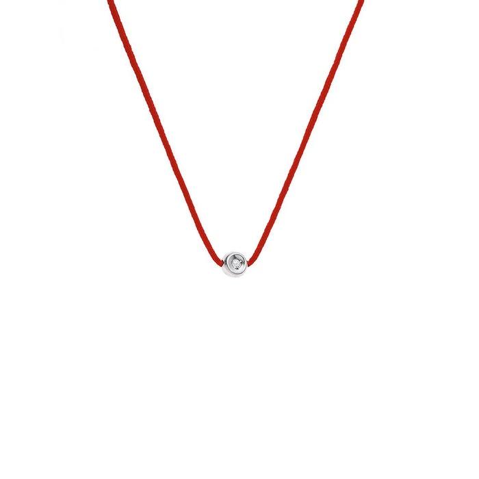 Collier lien nylon tressé de couleur rouge orné d'un serti clos avec véritable diamant rouge Nova Diamonds | La Redoute 100% Garanti À Vendre Acheter Meilleur Prix Bon Marché L1yZKZq7cM