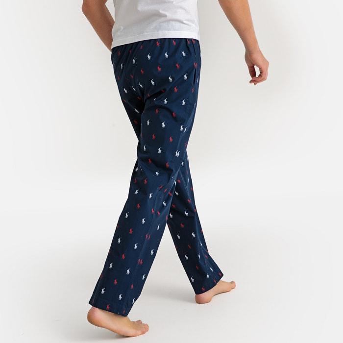 12f0e8167ec9b8 Pantalon de pyjama pur coton, imprimé bleu marine Polo Ralph Lauren ...