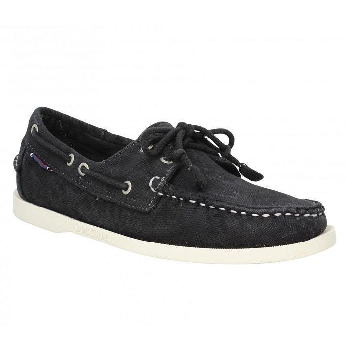 chaussures bateaux homme sebago docksides toile 41 noir. Black Bedroom Furniture Sets. Home Design Ideas