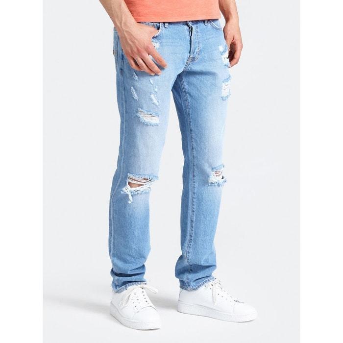8b9ba08f5b967 Jeans slim déchiré bleu Guess | La Redoute
