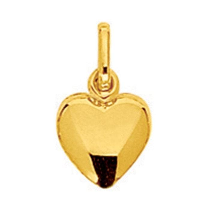 Pendentif coeur double coque or jaune 750/000 (18 carats) couleur unique So Chic Bijoux | La Redoute Acheter En Ligne Avec Paypal Par Carte De Crédit À Vendre Y0NcKxY
