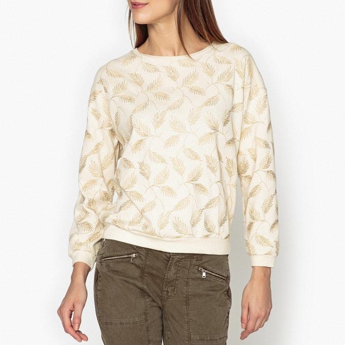 afbeelding Sweater met goudkleurig bladerenmotief BEEDY BELLEROSE