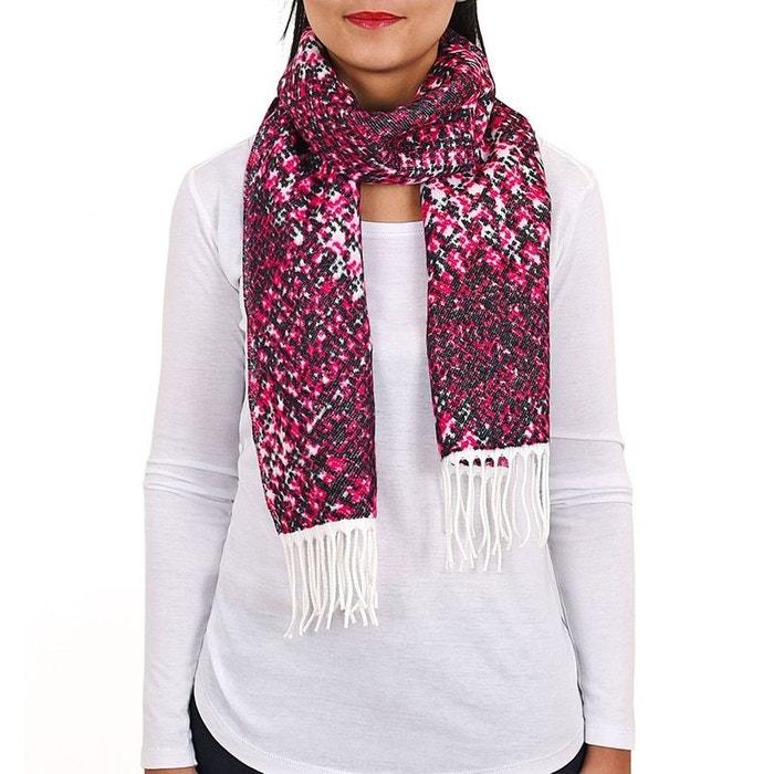 Echarpe gaya fuchsia - fabriqué en france rose Qualicoq   La Redoute 063fdf7c4e9