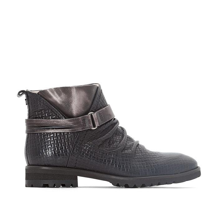 Boots cuir seven noir Dkode Acheter Pas Cher Finishline Paiement Visa Vente En Ligne GIBFByA