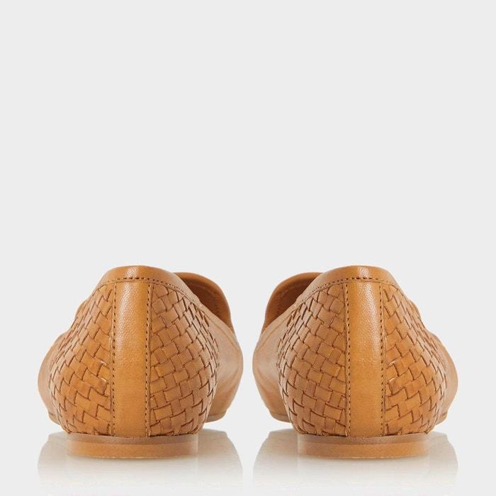 Mocassins tressés à pampilles - gentle fauve cuir Dune London