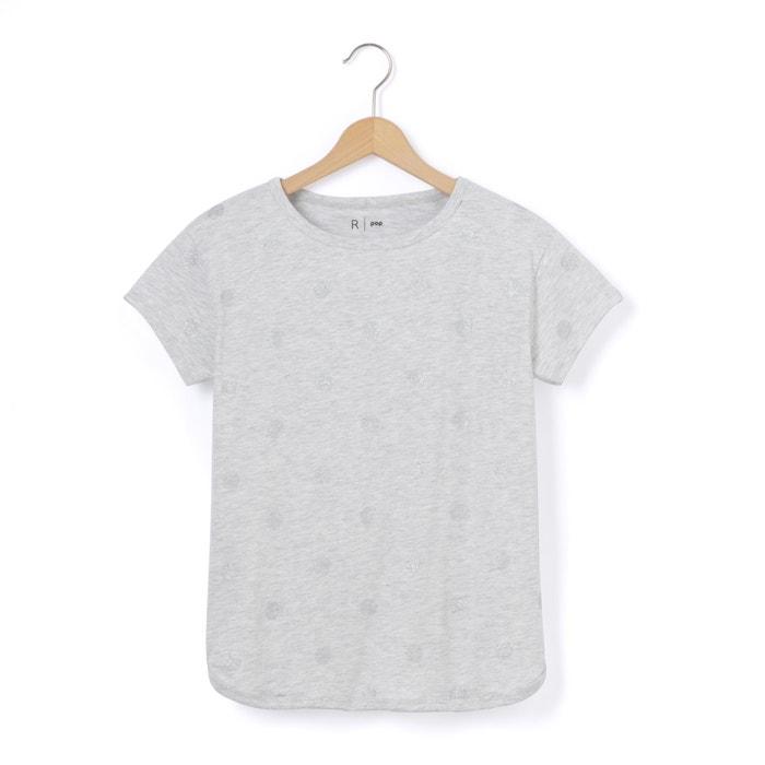 Tee shirt col rond imprimé à pois, manches courtes  La Redoute Collections image 0