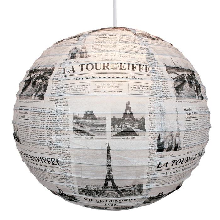 Boule japonaise ronde journal tour eiffel noir maison leconte la redoute - Papeterie japonaise paris ...