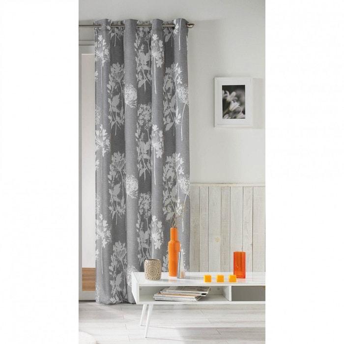 rideau prairie gris 140x260 douceur d 39 int rieur gris douceur d 39 int rieur la redoute. Black Bedroom Furniture Sets. Home Design Ideas
