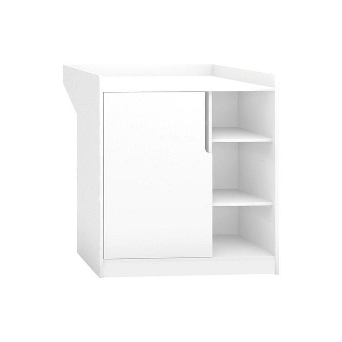 commode b b blanche avec plan langer collection maxime blanc petite chambre la redoute. Black Bedroom Furniture Sets. Home Design Ideas