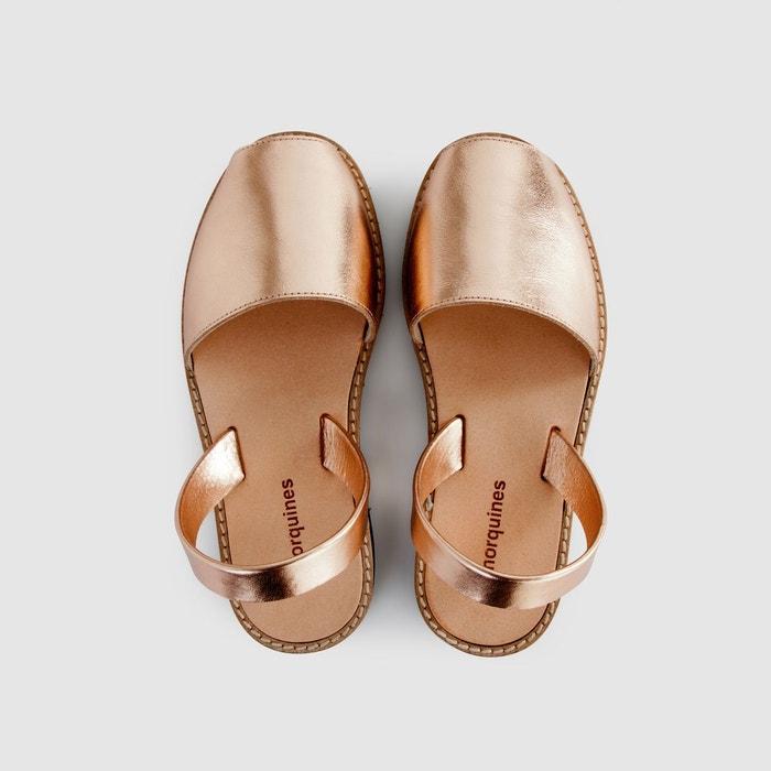 Sandales plates cuir de vache avarca metal Minorquines