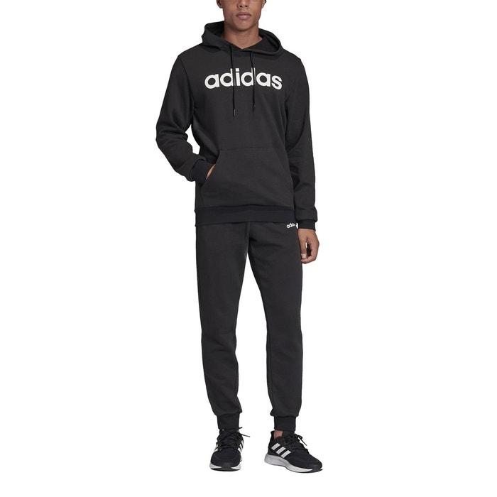 Survêtement à capuche linear noir Adidas