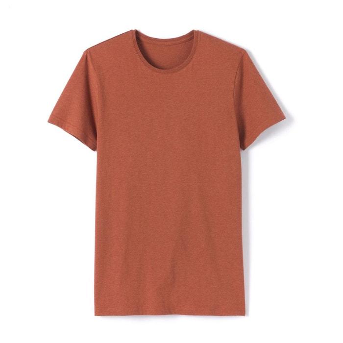T-shirt col rond chiné pur coton R essentiel