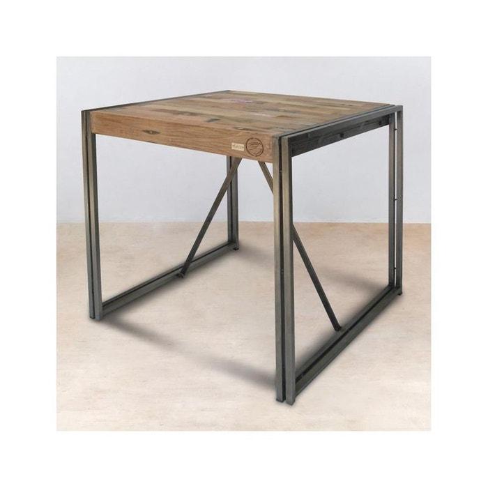 Table mange debout carr e bois recycl 100x100 caravelle couleur unique pier - Table haute la redoute ...