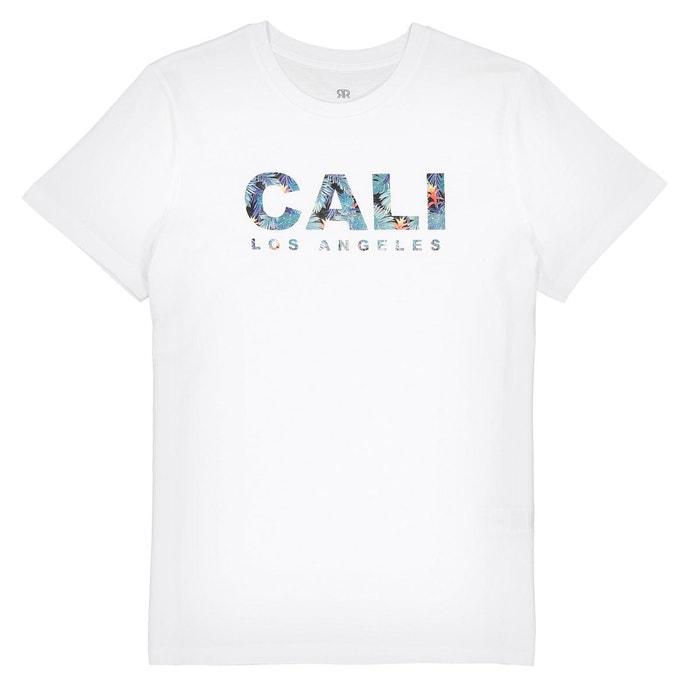 b729991500c2e T-shirt col rond imprimé 10-16 ans blanc La Redoute Collections