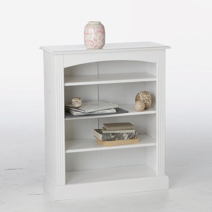 Bibus pin massif coloris blanc authentic style blanc la - La redoute meuble bibliotheque ...