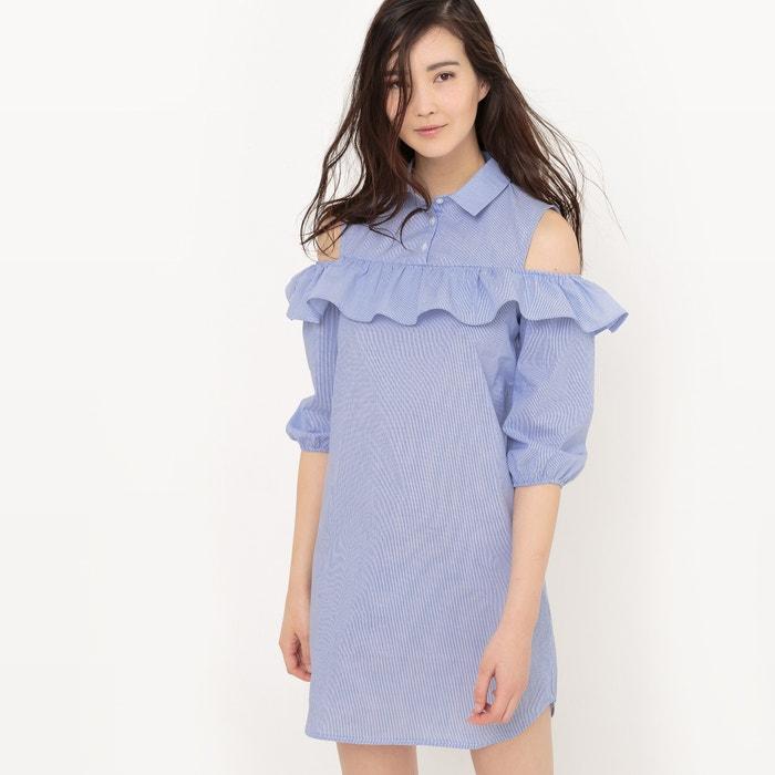 Image Robe chemise avec volant, coton R édition