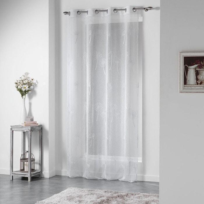 voilage brod sur fond sabl home maison la redoute. Black Bedroom Furniture Sets. Home Design Ideas
