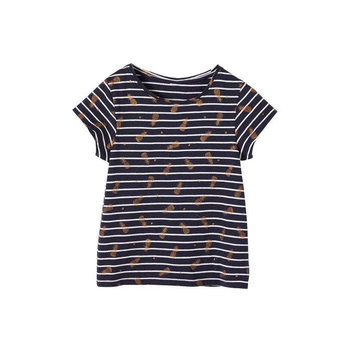 7c485d1bd9eba T-shirt rayé fille motifs fruits pailletés Vertbaudet