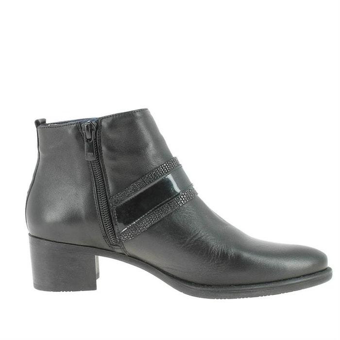 Bottines   boots cuir noir Dorking   La Redoute a9cd251797f5