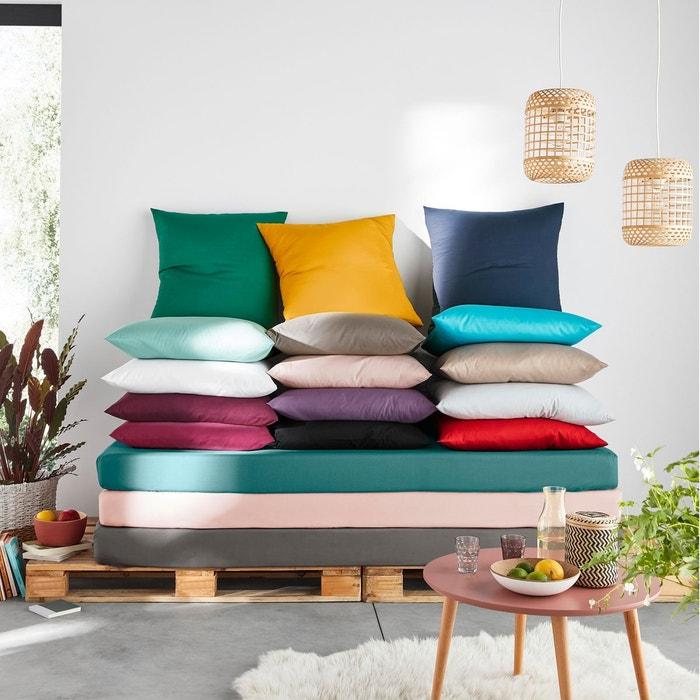 housse de couette unie coton polyester scenario la redoute. Black Bedroom Furniture Sets. Home Design Ideas