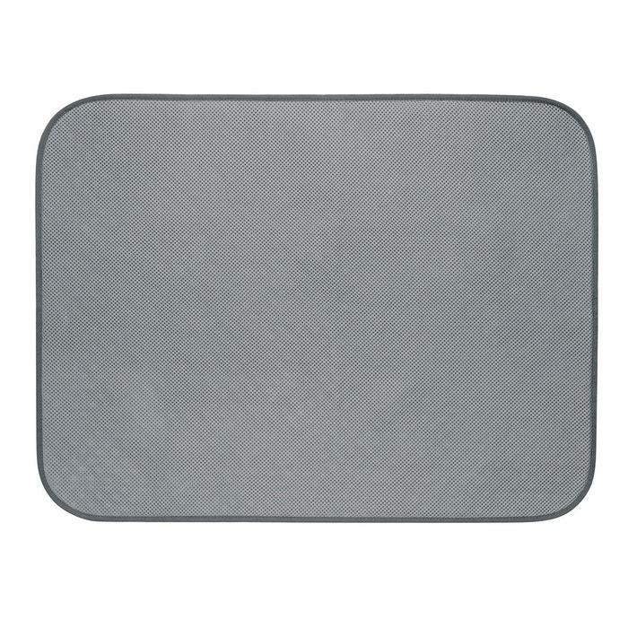 Tapis salle de bain 61x46cm gris gris clair Interdesign   La Redoute