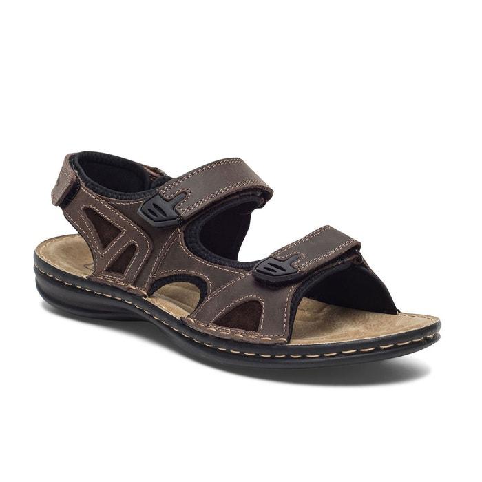 sandale tbs scratch cuir marron